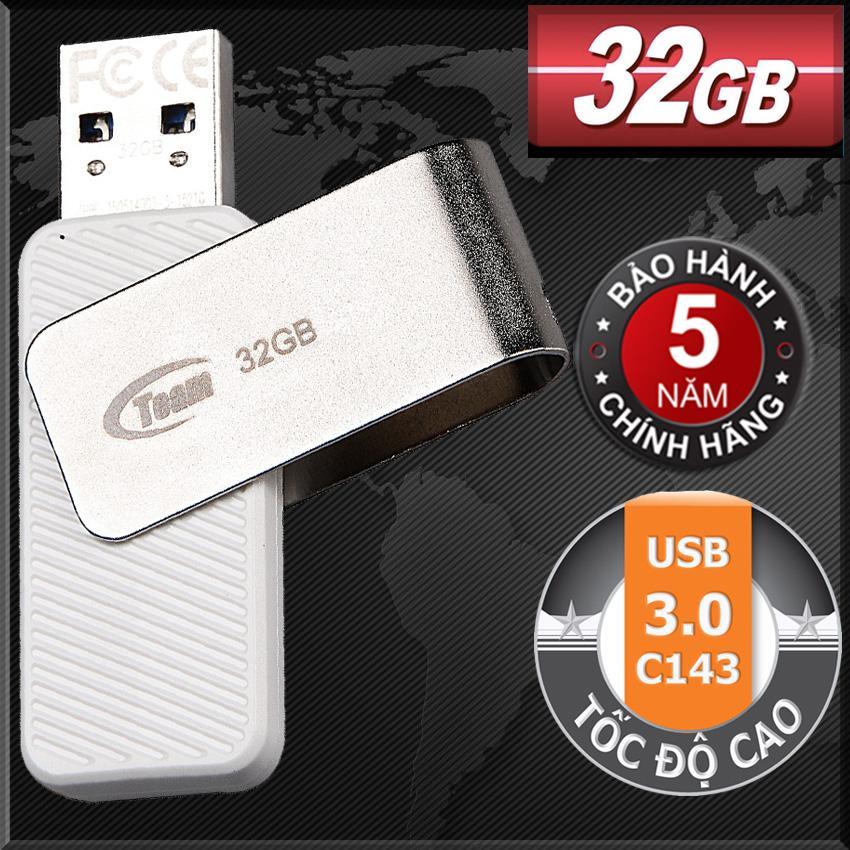 Hình ảnh USB 3.0 32GB Team Group INC C143 (Trắng) Tốc độ cao - Hãng phân phối chính thức