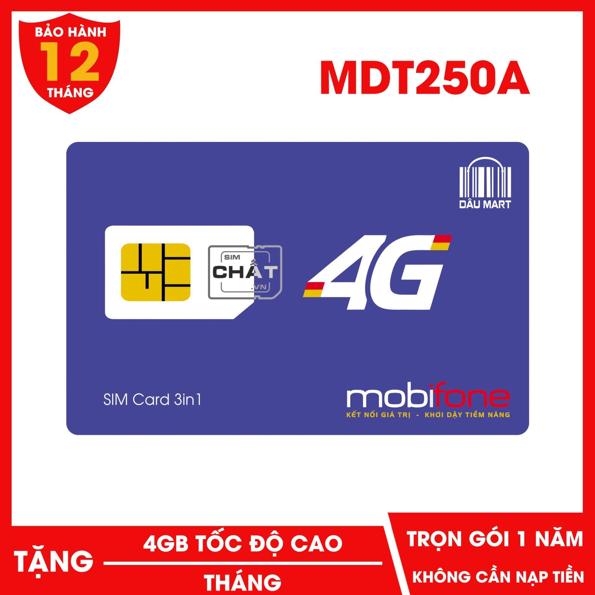 Giá Sim 4G Mobifone MDT250A Miễn Phí 1 Năm Không Cần Nạp Tiền