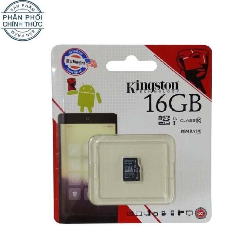 Thẻ nhớ Micro SDHC Kingston Class 10 UHS-I 80MB/s 16GB (Đen)