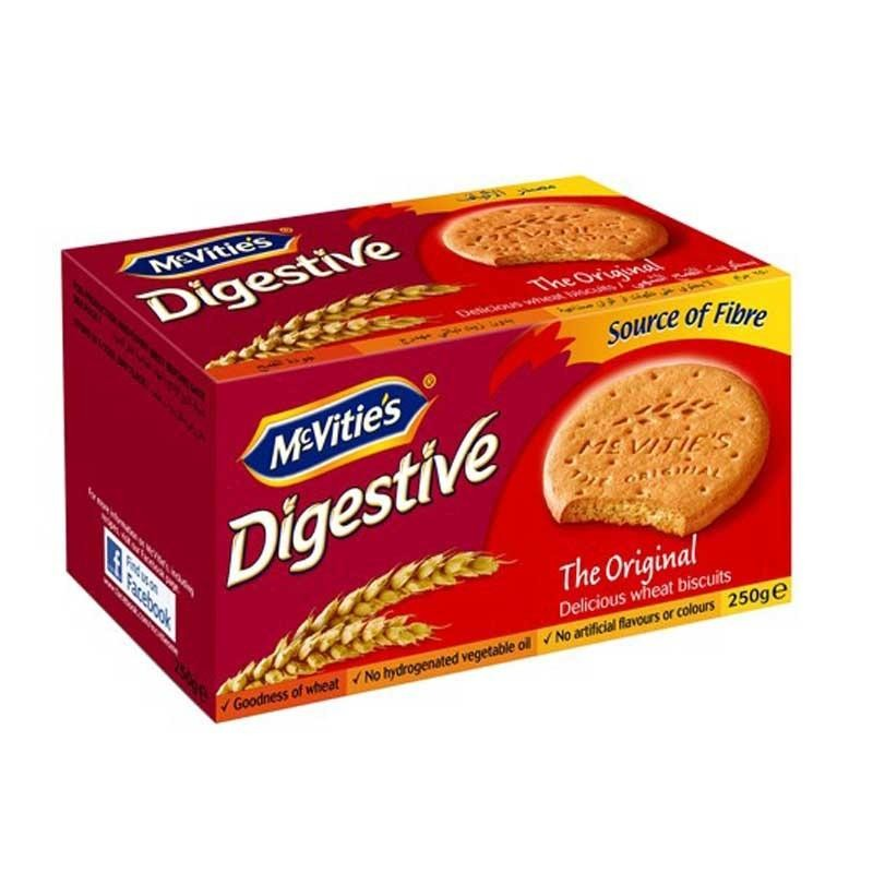 Hình ảnh Bánh ăn kiêng McVitie's Digestive Original Lúa mì nguyên cám 250g