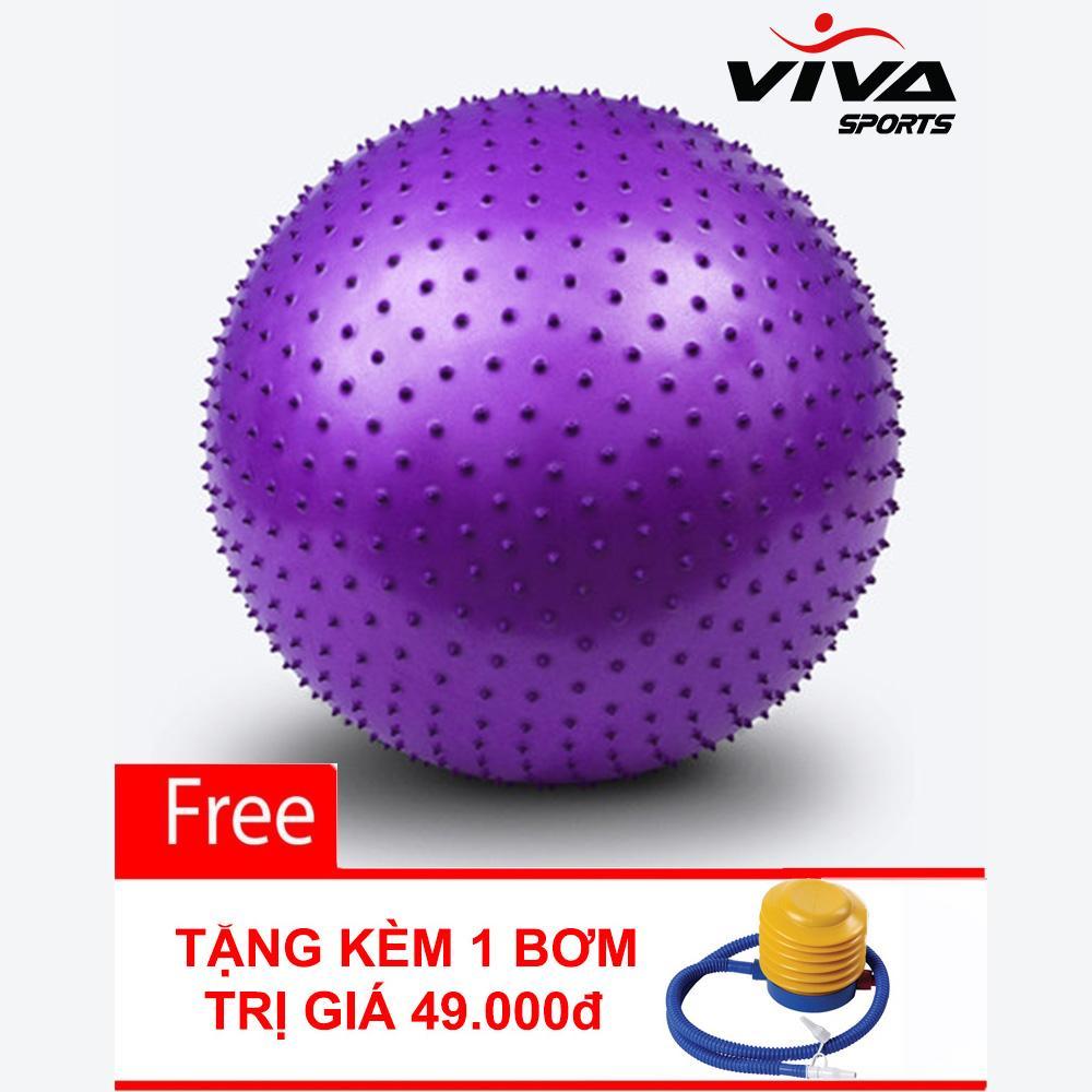 Hình ảnh Bóng Tập Yoga Gai 65CM - ViVa Sport - Tặng Kèm 1 Bơm Bóng