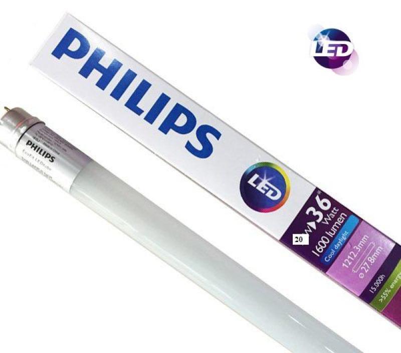 Bộ 10 Bóng đèn Siêu sáng LedTube EcoFit HO Philips 20W 1M2 (Trắng/Vàng)