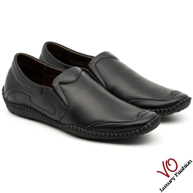 Giày mọi da bò thật màu đen và nâu đỏ KK459 giá rẻ