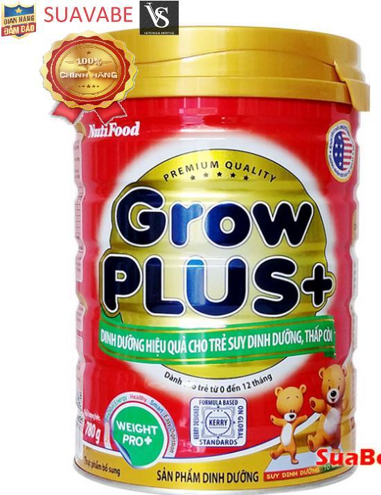 Sữa Nutifood Grow Plus + 350g/780g (trẻ dưới 1 tuổi suy dinh dưỡng thấp còi)