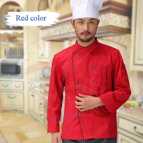 Áo bếp đỏ size XL (dài tay)