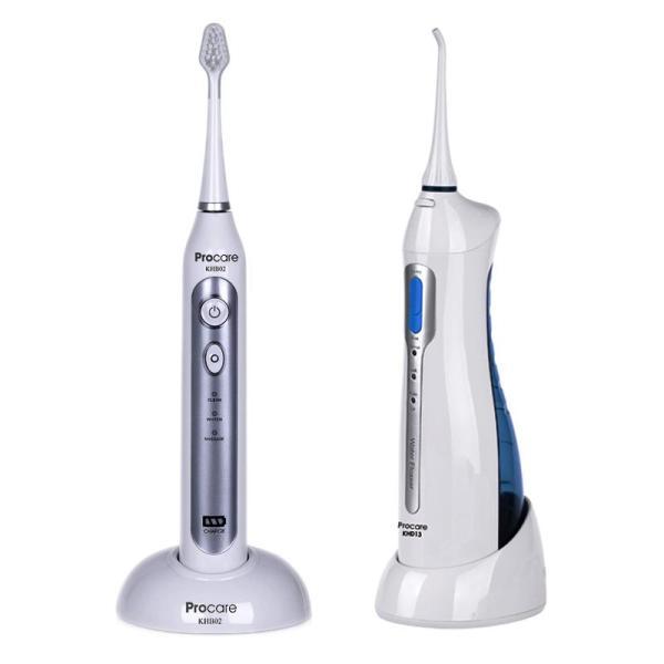 Bộ dụng cụ chăm sóc răng miệng máy tăm nước cầm tay và bàn chải điện PROCARE giá rẻ