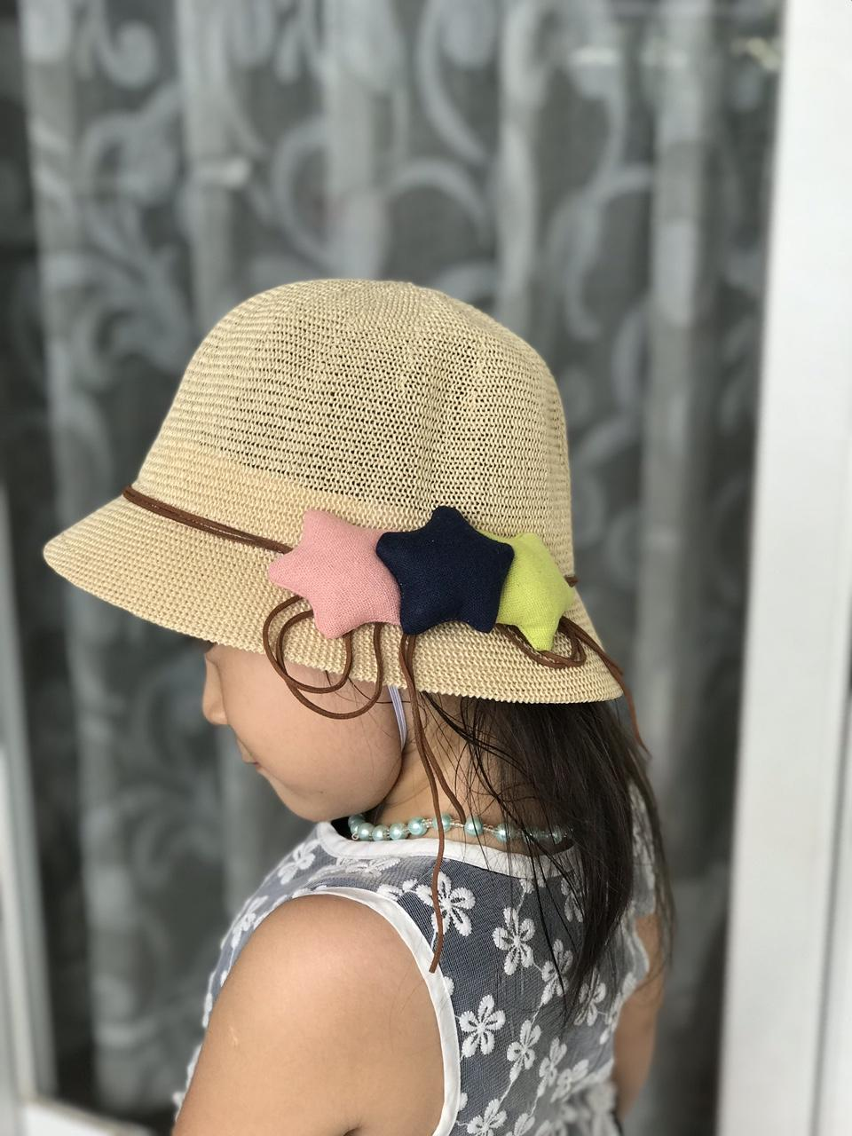mũ cói bé gái 3 sao 2-5 tuổi