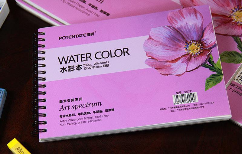 Mua Sổ vẽ Potentate-22771-Sổ A5-Sổ vẽ màu nước, Watercolor pad ,sketch, Drawing book -Kích thước 195x135
