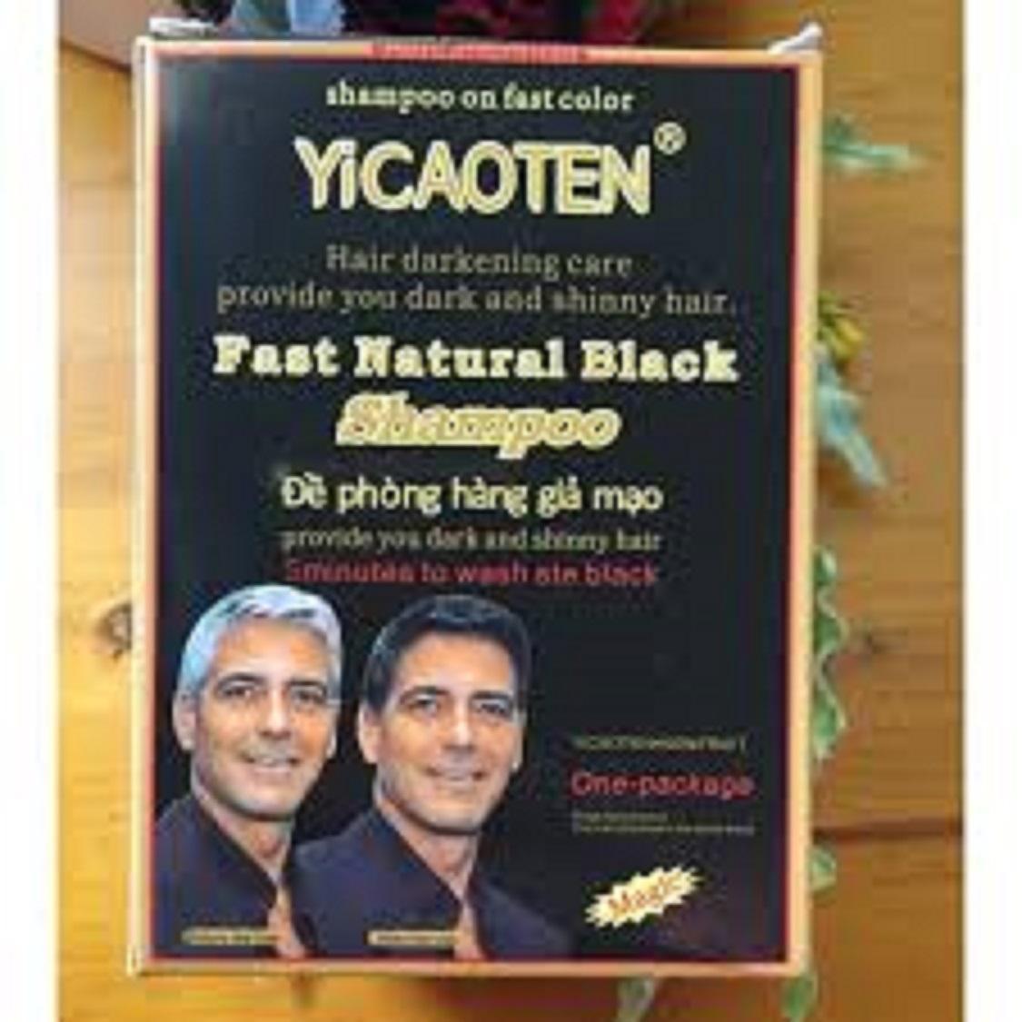 Dầu gội làm đen tóc Yicaoten (hộp 10 gói)