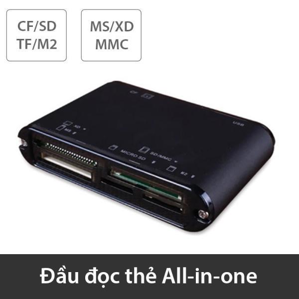 Đầu đọc thẻ đa năng All-in-one TF/SD/CF/M2/XD/MMC - USB 2.0 480Mbps thương hiệu SSK SCRM-025 (màu đen)