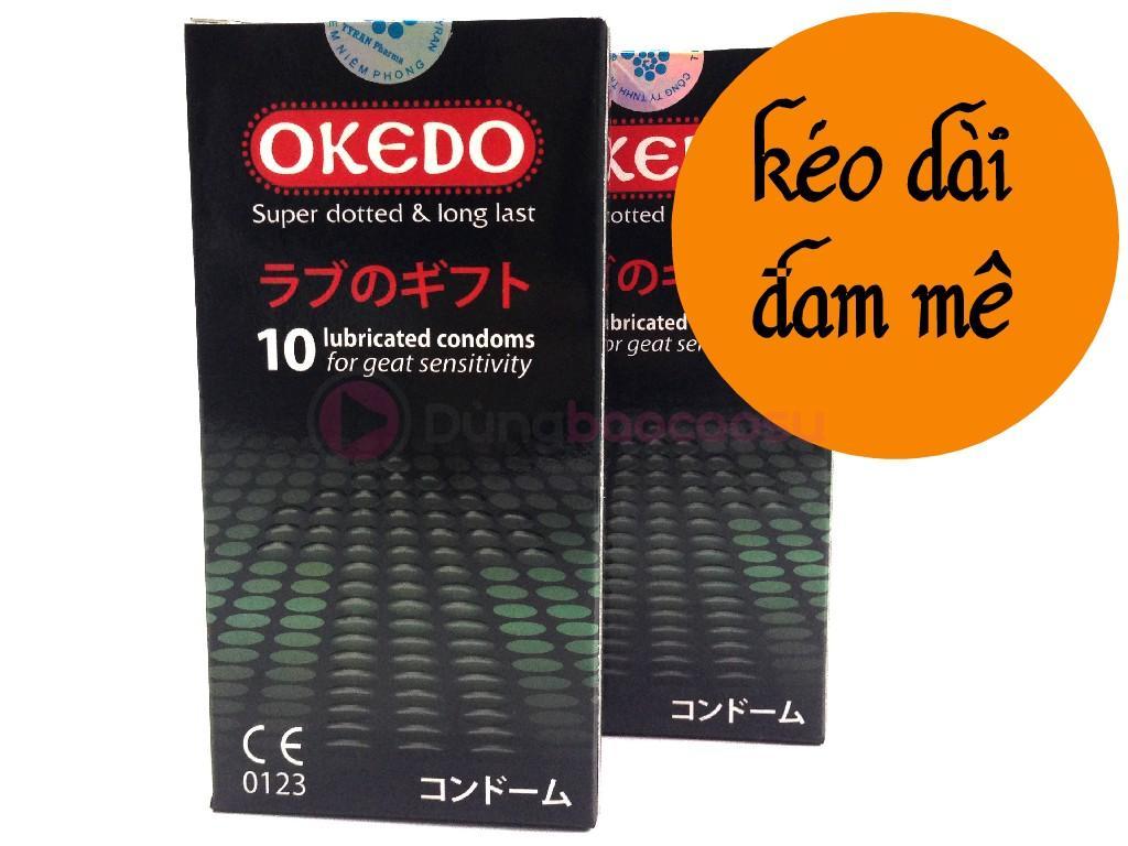 Combo 2 hộp OKEDO kéo dài thời gian, ôm sát (hộp 10 chiếc)