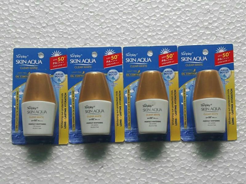 Combo 4 chai Chống nắng Sunplay Skin Aqua Clear White SPF 50+ PA++++ 5g nhập khẩu