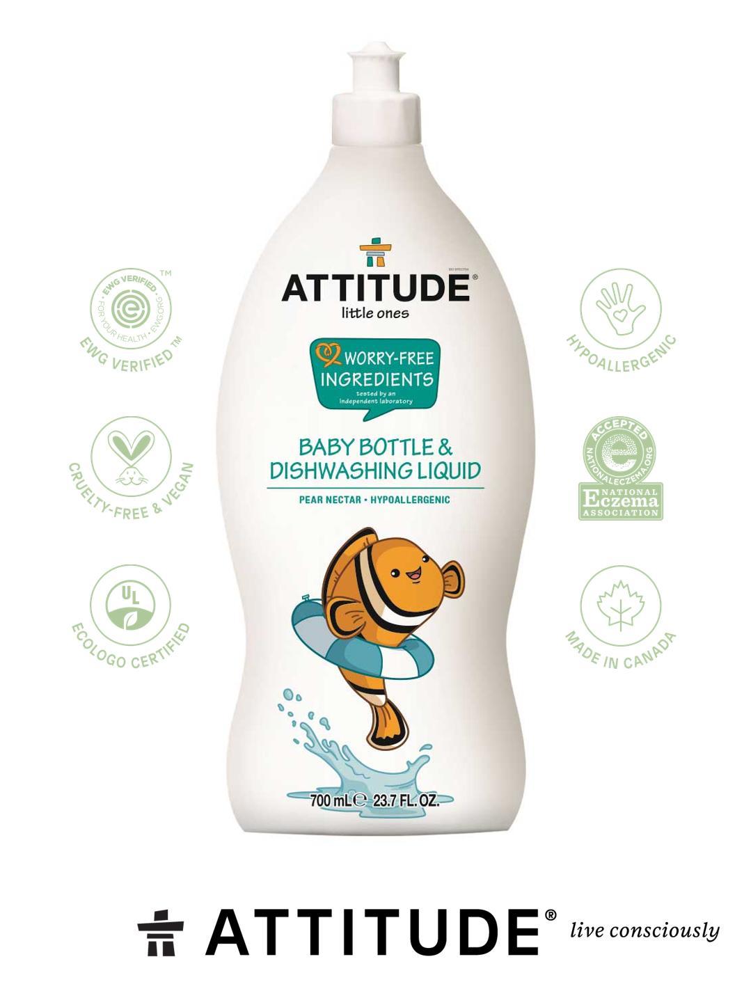 Nước rửa bình đậm đặc Attitude Living - 700ml
