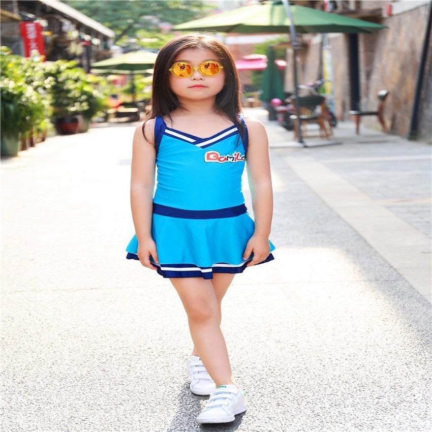 Giá bán Đồ bơi  màu xanhg Boi22-X giá tốt cho bé từ  7-12 tuổi