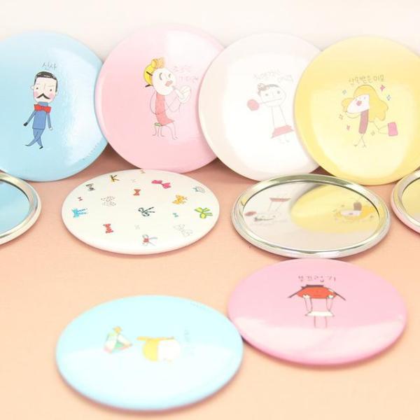 Combo 10 Gương Cầm Tay mini Phong cách Hàn Quốc (Hình Ngẫu Nhiên) giá rẻ