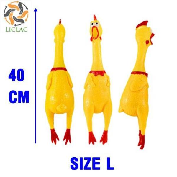 Gà La Hét - Gà Cao Su - Gà Huấn Luyện Chó - Gà Bóp Kêu Size 40 cm