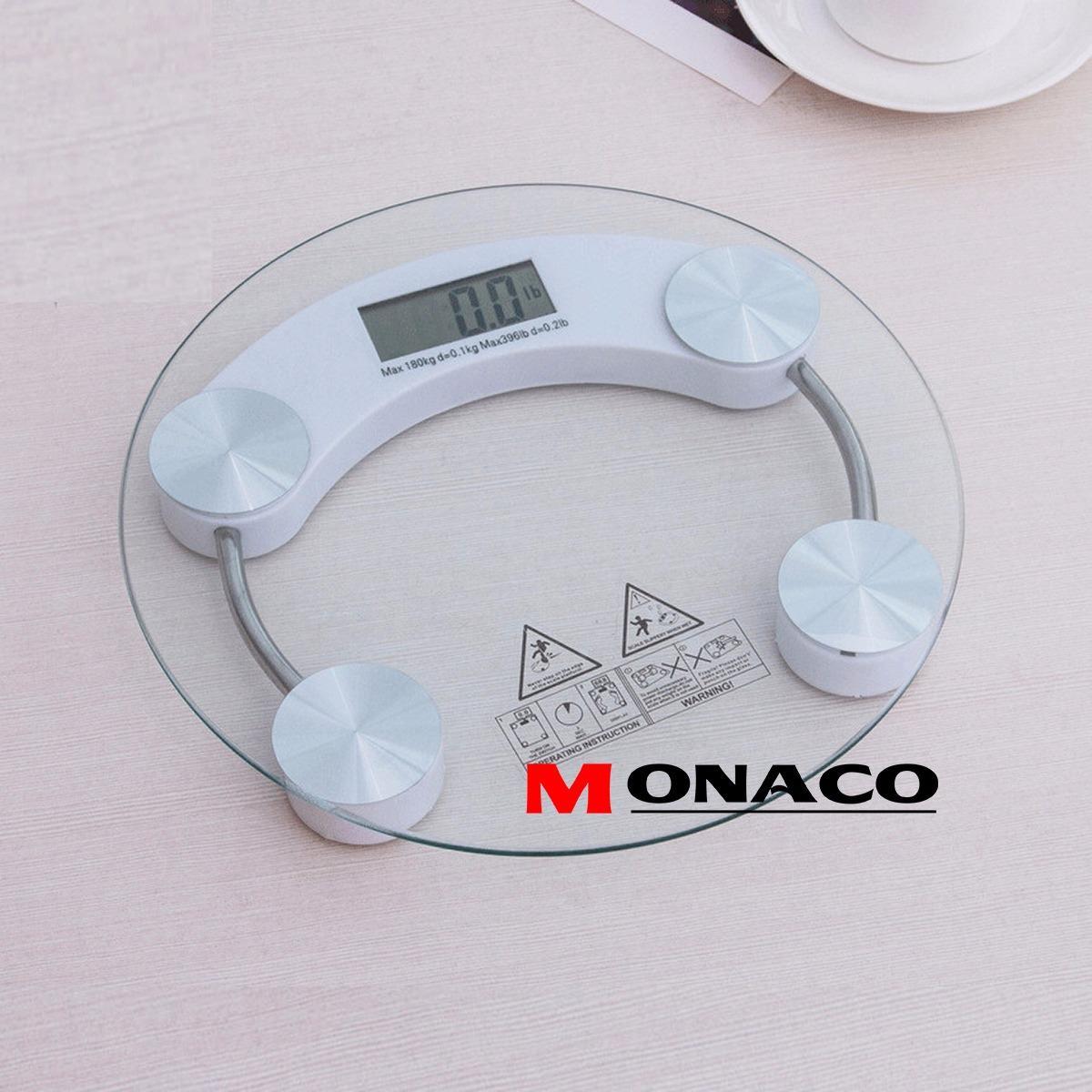 Hình ảnh Cân Điện Tử Mặt Kính Chịu Lực 180kg PERSONAL SCALE Monaco