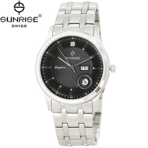 Nơi bán Đồng hồ nam dây kim loại mặt kính sapphire chống xước Sunrise DM782MSK