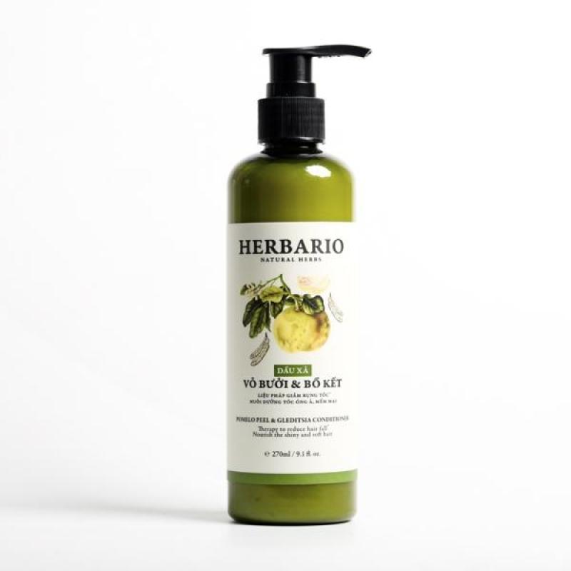 Dầu xả Vỏ bưởi và Bồ kết Herbario 270ml giúp ngăn rụng tóc nhập khẩu
