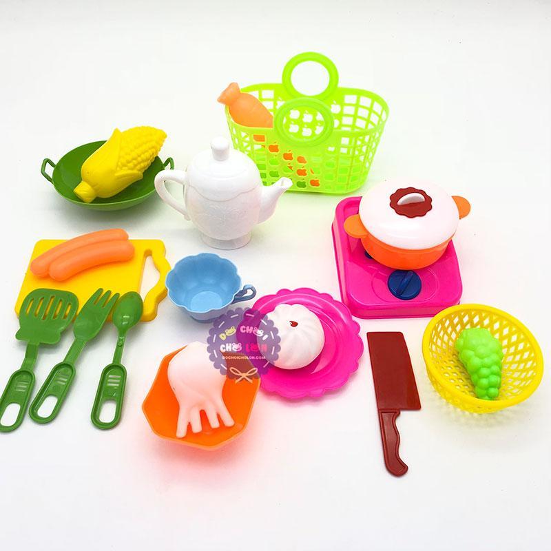 Hình ảnh Bộ đồ chơi nấu ăn giỏ đi chợ bằng nhựa Bích Phương