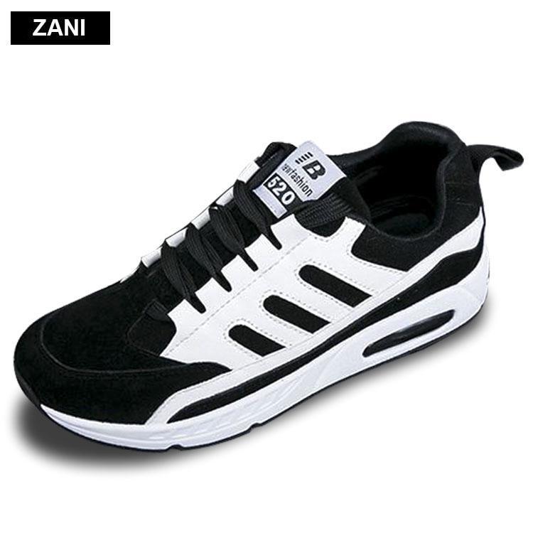 Chiết Khấu Giay Sneaker Đế Phẳng Day Buộc Thời Trang Nữ Zani Zw4502B Đen Zani Hà Nội