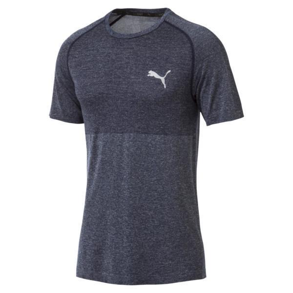Áo thun thể thao nam Puma evoKNIT Basic Tee (màu Peacoat) - Hàng chuẩn châu Âu