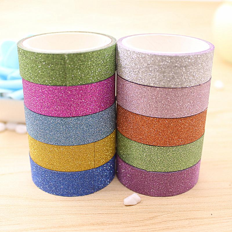 Mua 10 Rolls/Lot Hot Sale DIY Tape Candy Color Scrapbooking Adhesive Paper Sticker Masking Tape Decorative Tapes - intl
