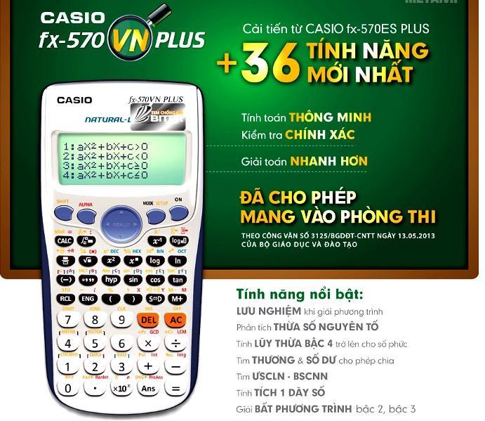 Mua Máy Tính Casio FX570VN Plus - Hàng Thái Lan