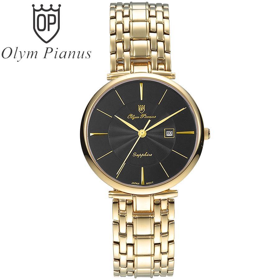 Đồng hồ nam mặt kính sapphire Olym Pianus OP5657MK đen bán chạy