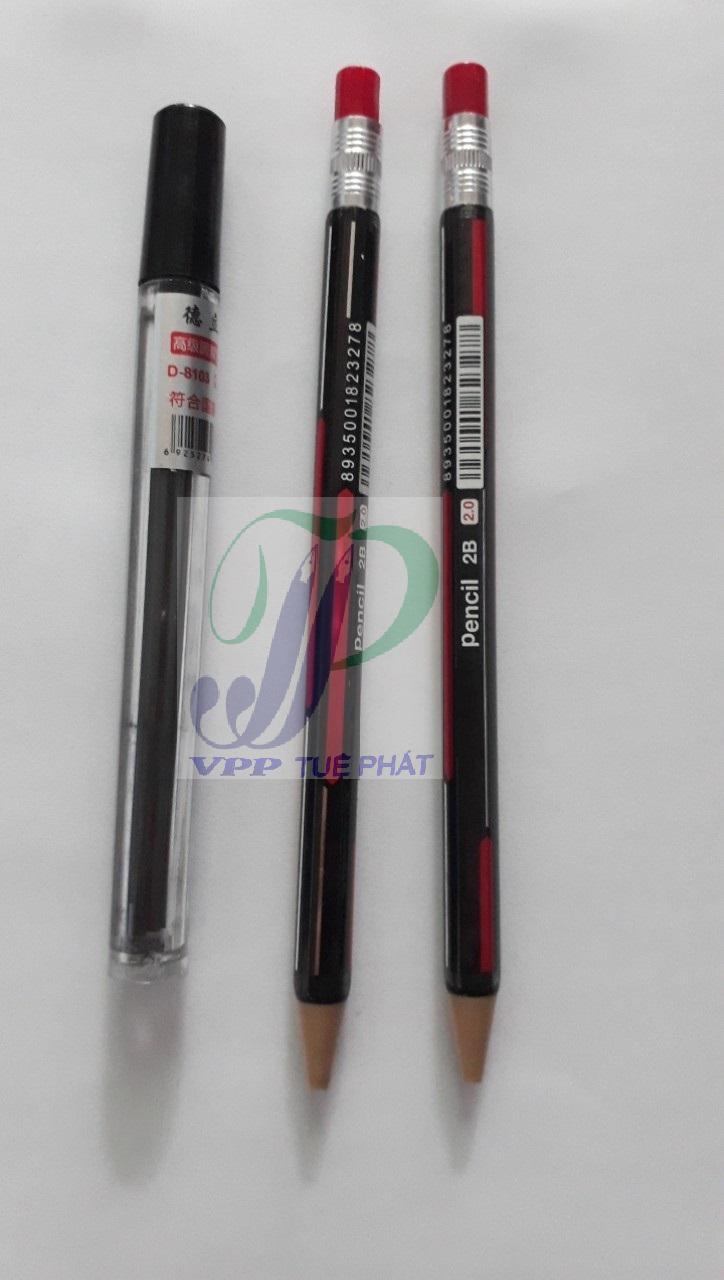 Mua Combo 2 cây bút chì bấm 2 li + hộp chì 2 li