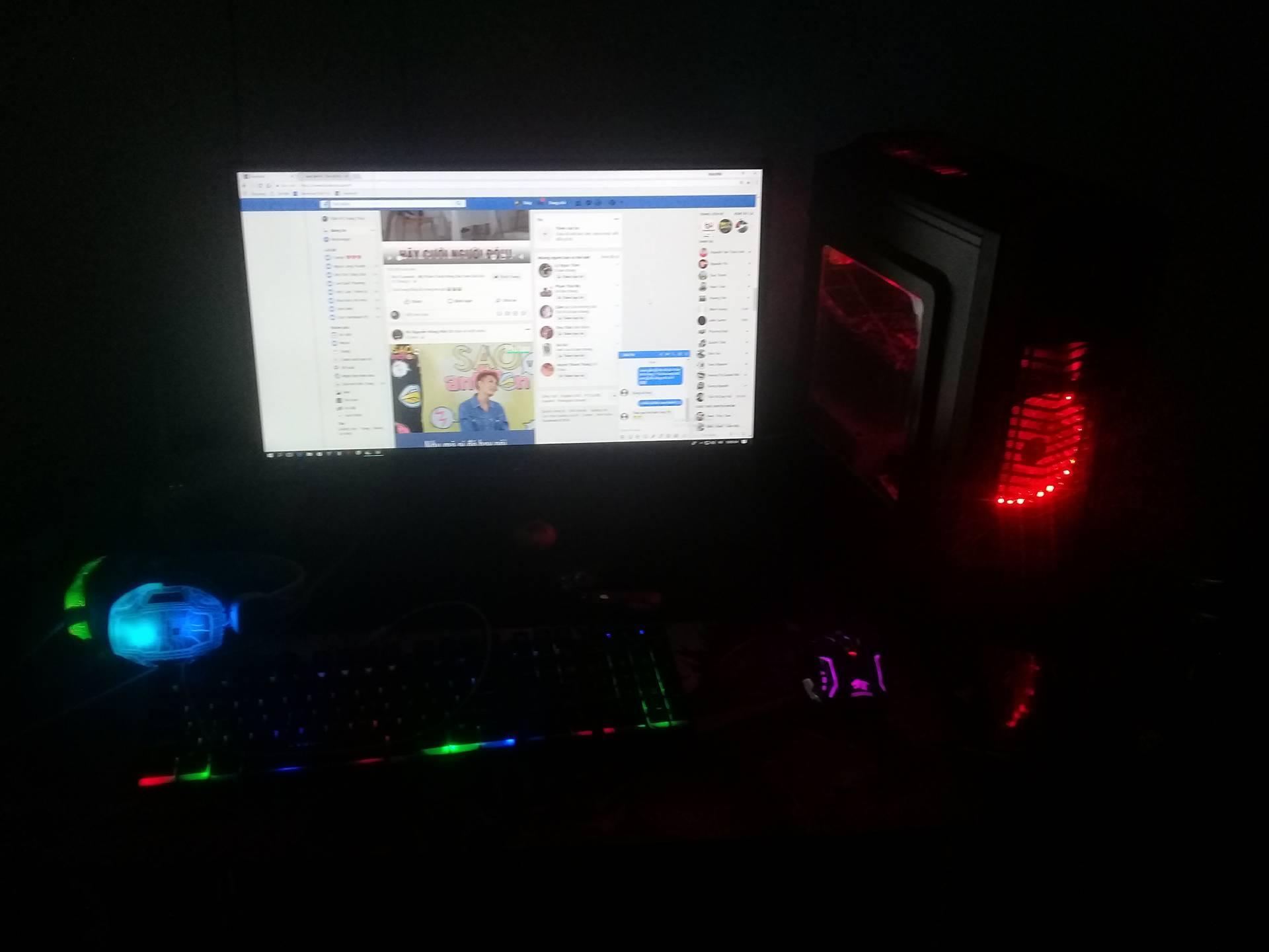 Hình ảnh Bộ máy tính LOL, FFO, ROS mượt và màn hình 20 inch