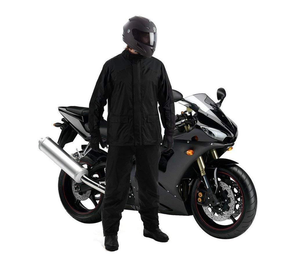 Áo đi mưa bộ vải dù tiện dụng (Xanh đen)