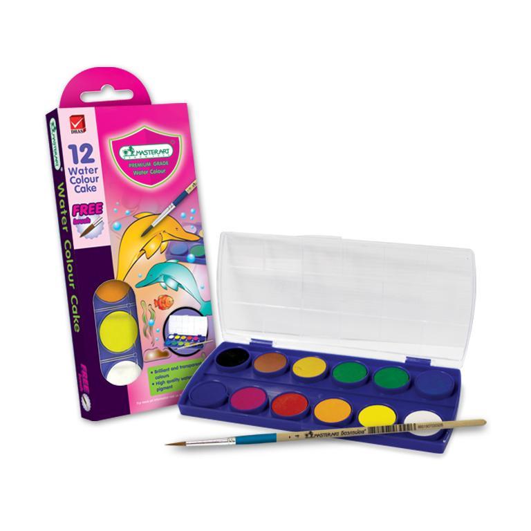 Mua Bộ màu nước Master Art 12 màu (Thái Lan) hộp plastic