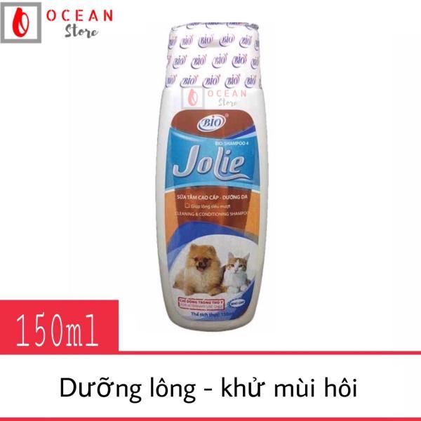 Sữa tắm dưỡng lông, khử mùi hôi cho chó mèo - Bio Jolie 150ml
