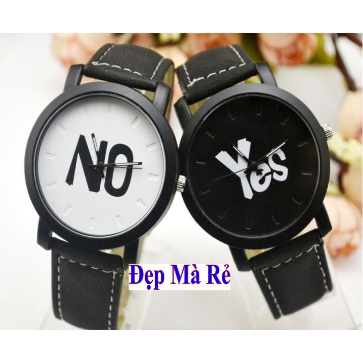 Bán Đồng Hồ Cặp Yes No Rẻ