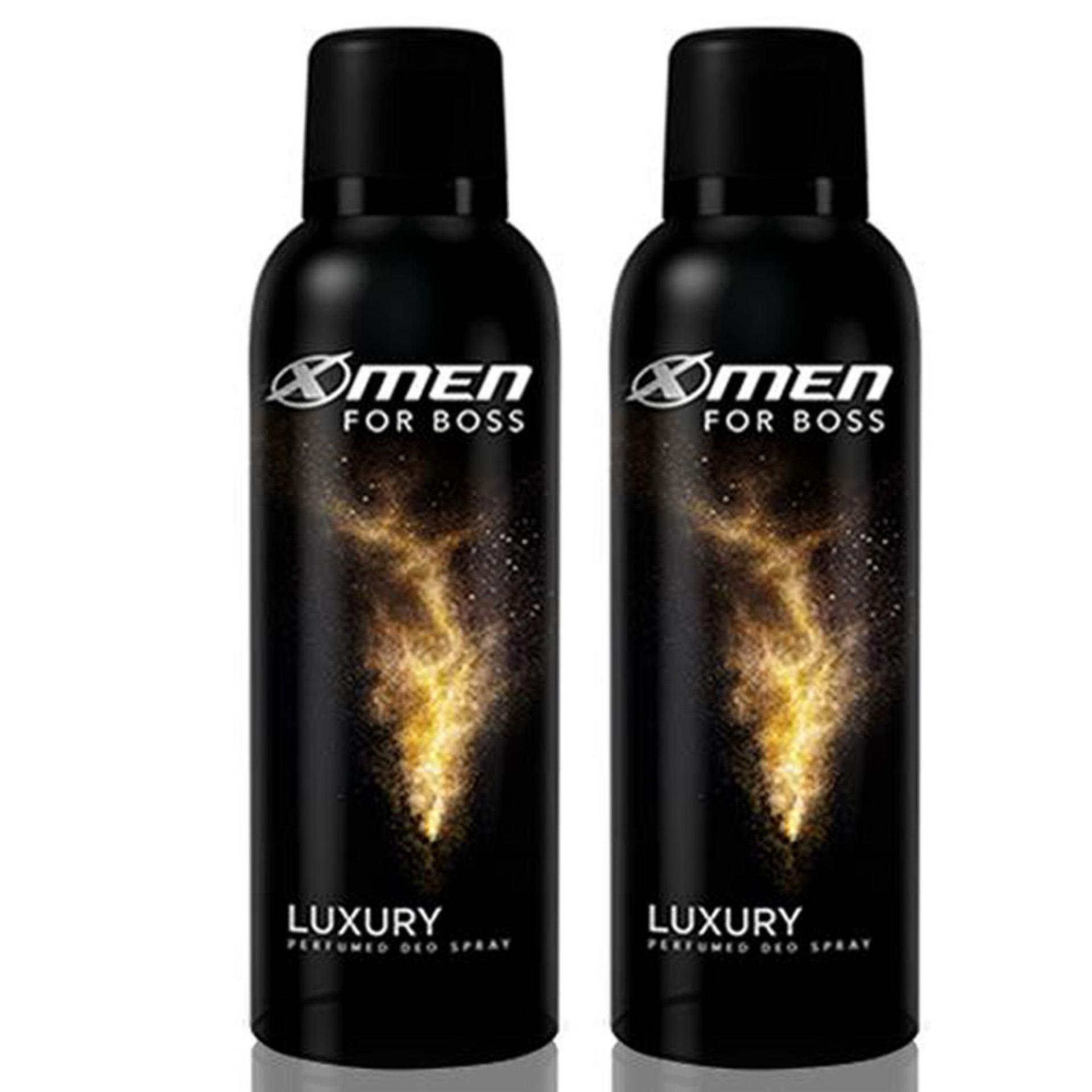 Combo 2 chai xịt khử mùi toàn thân X-Men for Boss Luxury 150ml