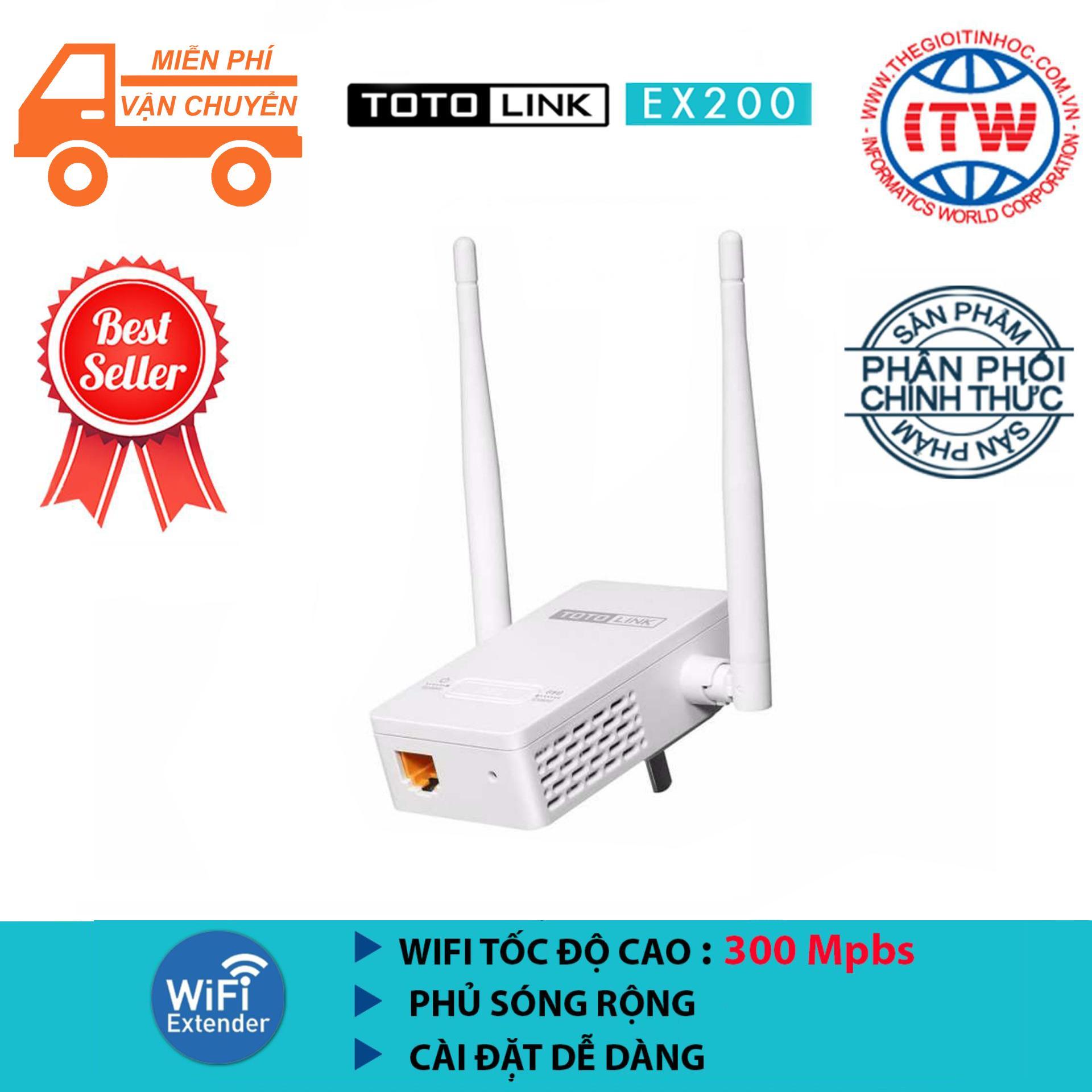 Hình ảnh Bộ kích sóng WiFi TOTOLINK EX200 (Trắng) - Hãng phân phối chính thức