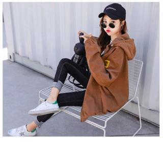 áo khoác dù nhẹ 2 lớp nữ chống nắng 2 sọc tay W112 thumbnail