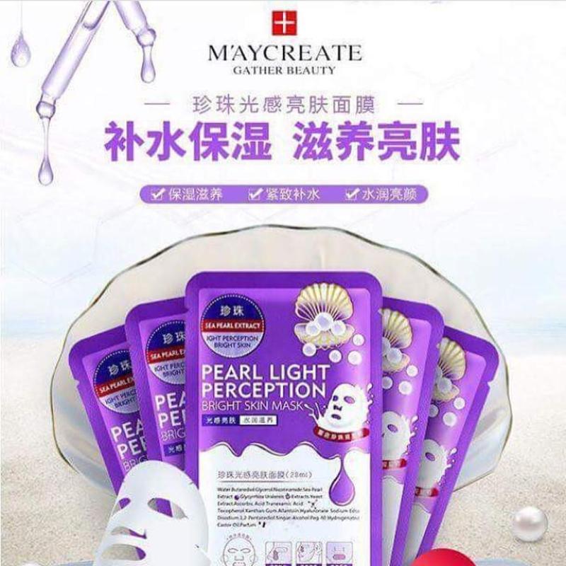 Bộ 20 Mặt nạ dưỡng da HA MayCreate - Hyaluronic Acid Super Smooth Mask (Tím)