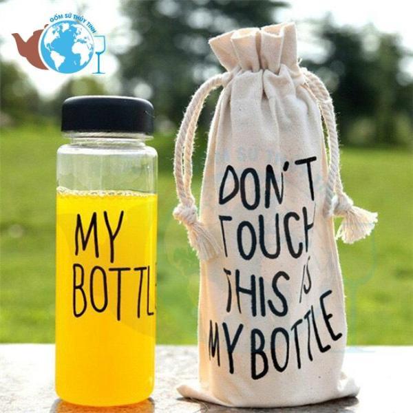 Bình Đựng Nước Thuỷ Tinh My Bottle 500 ml + Kèm Túi Vải