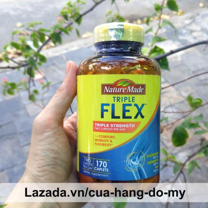 Thuốc bổ khớp Triple Flex Nature Made Triple Strength 170 Viên - Hỗ Trợ Điều Trị Các Bệnh Về Xương Khớp với Glucosamine 1500mg Chondroitin 800mg và MSM 750mg tốt nhất