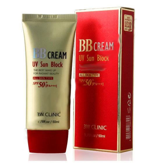 Giá Bán Kem Nền Bb Trang Điểm Kiểm Soat Dầu Va Chống Nắng Hiệu Quả 3W Clinic Bb Cream Uv Sun Block Spf50 Pa 50Ml 3W Clinic Nguyên