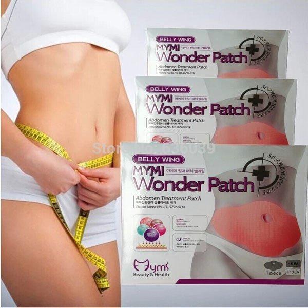 Miếng dán tan mỡ bụng Hàn Quốc MyMi Wonder Patch (Bộ 5 miếng)
