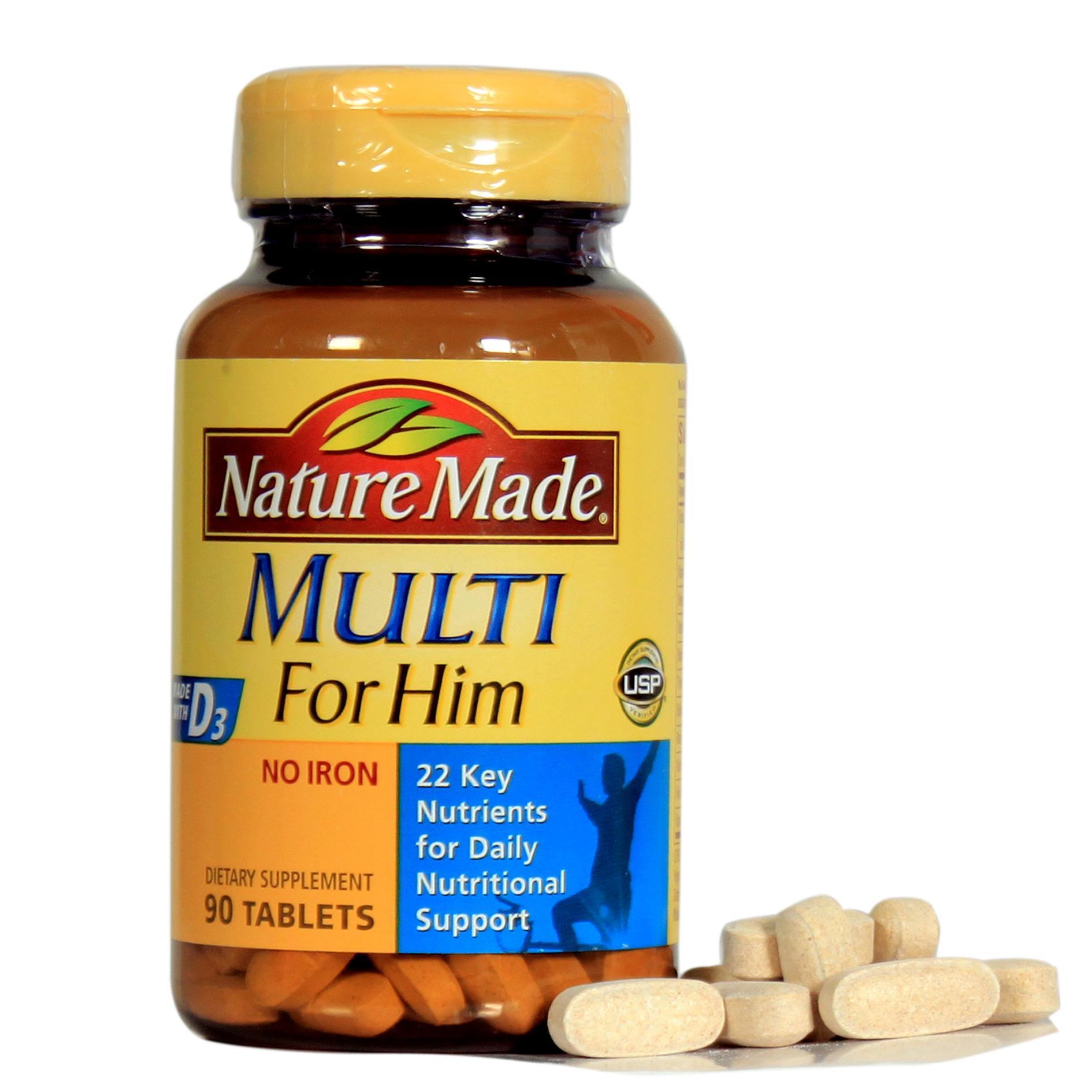 Vitamin tổng hợp cho nam Nature Made Multi For Him (90 viên) - Xuất xứ Mỹ nhập khẩu