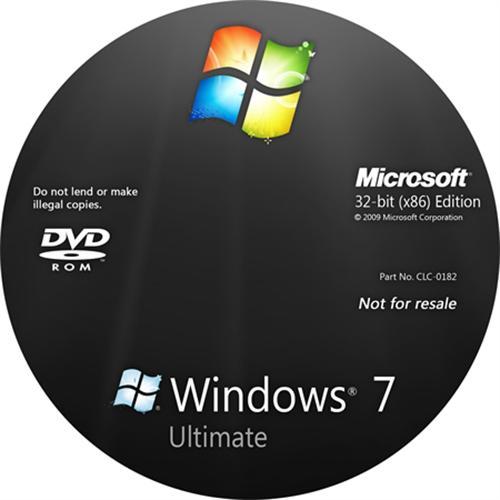 Hình ảnh Bộ 2 Đĩa cài Windows 7 Ultimate 32bit và 64 bit và Office 365 Personal 2018