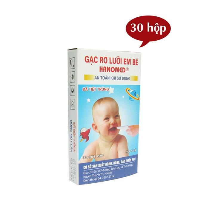Hình ảnh Combo 30 Hộp gạc rơ lưỡi cho bé (5 chiếc/hộp x 30 hộp)