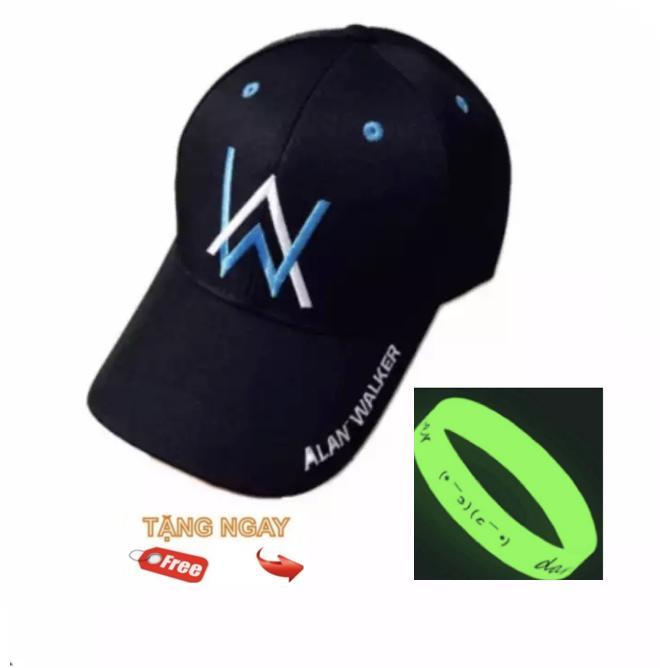Nón kết Alan Walker (Đen) + Tặng vòng đeo dạ quang phát sáng