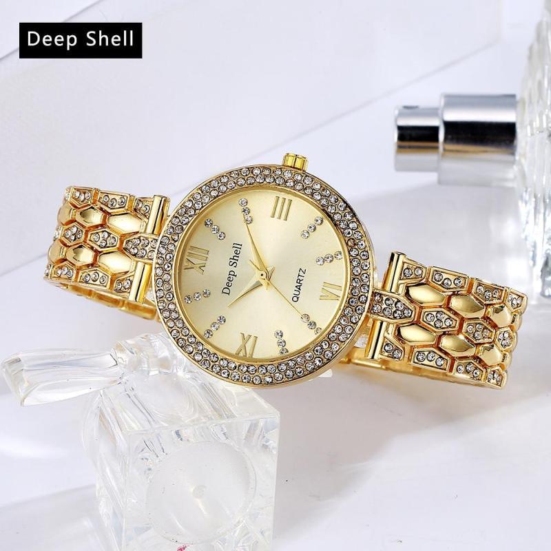 Nơi bán Đồng hồ nữ Deep Shell đính đá sang trọng cao cấp thời trang quý phái STT-DP004