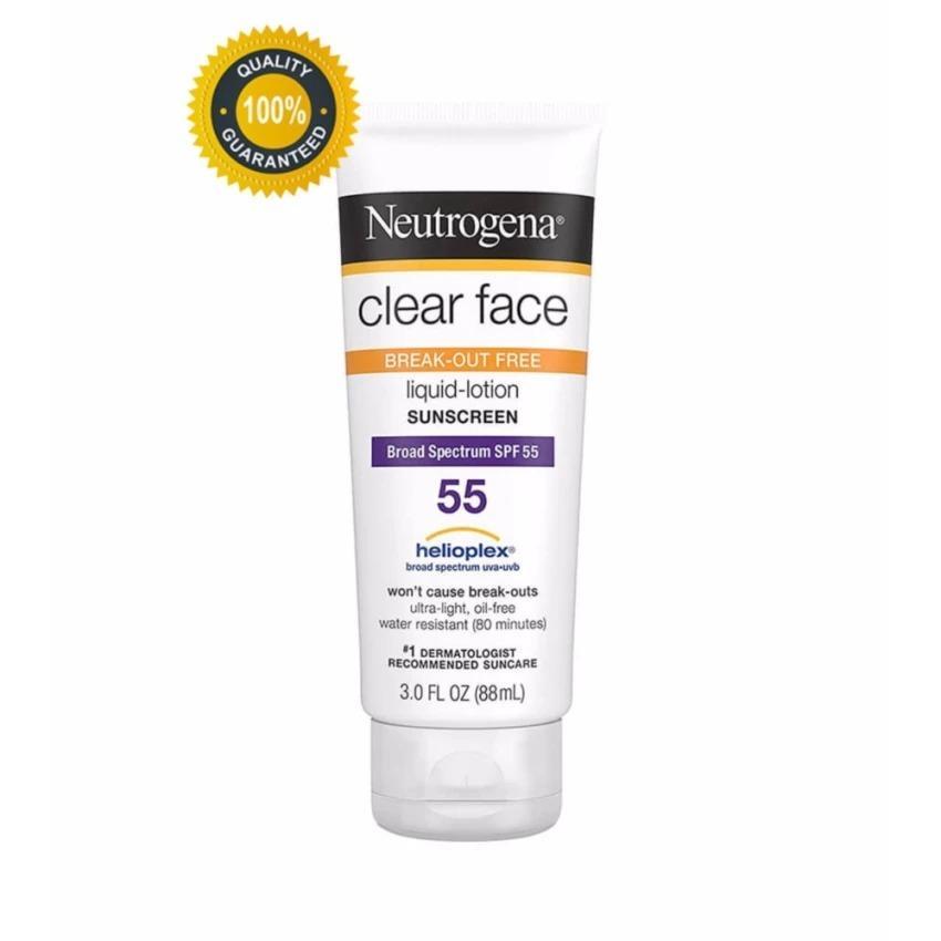 Kem Chống Nắng Neutrogena Clear Face Broad Spectrum Spf 55 88Ml Vietnam Chiết Khấu 50