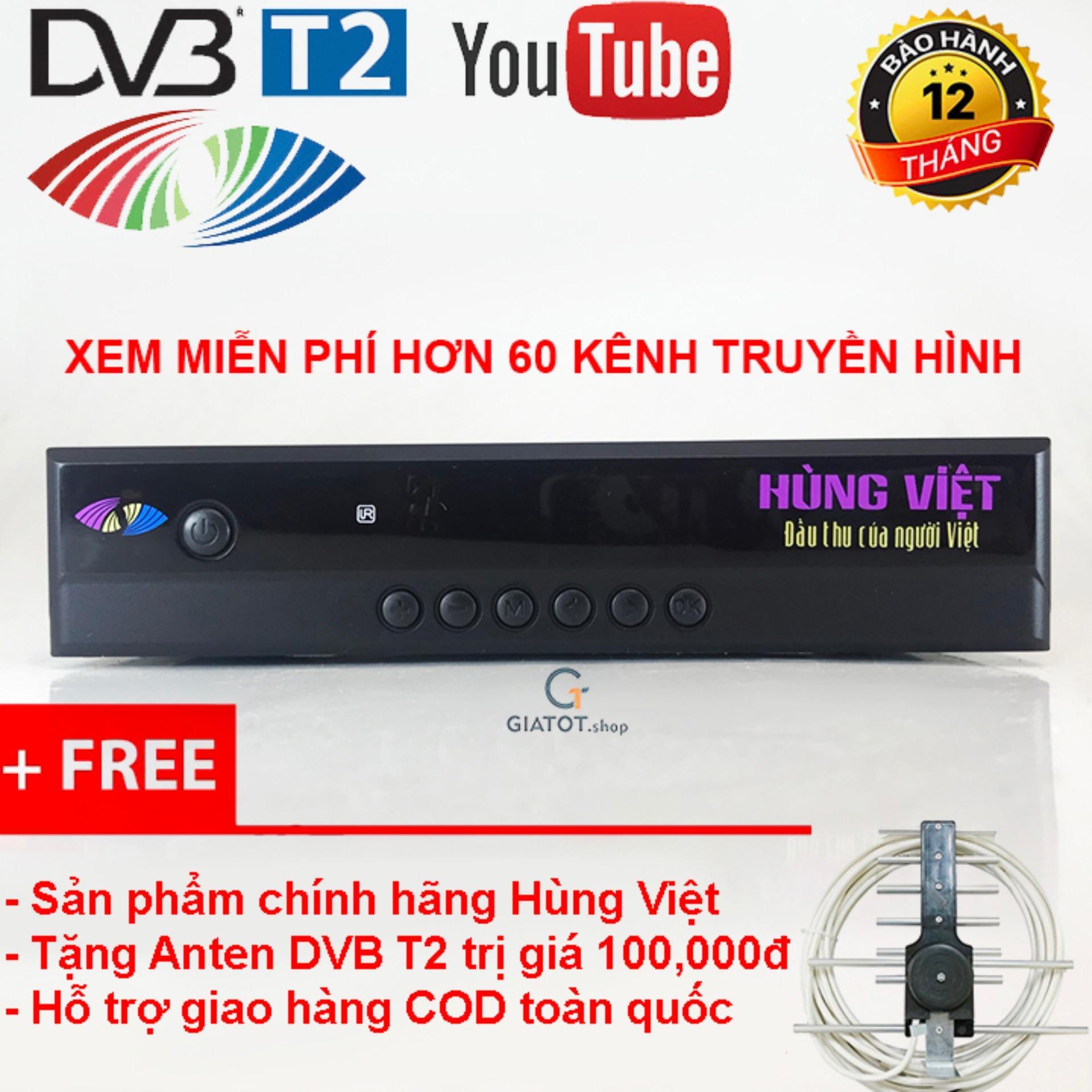 Hình ảnh Đầu thu kỹ thuật số DVB T2 HÙNG VIỆT HD-789s tặng Anten DVB T2